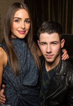 Cute couple: Nick Jonas was joined by his supportive girlfriend, Olivia Culpo, as they attended the Flaunt magazine bash at Hollywood Roosevelt Hotel in Los Angeles