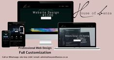 86% of #website visitors expect to see information about products/ services on a homepage. Are you indirectly chasing potential customers away? I can help you. I am a passionate #webdesigner with the goal of making beautiful and dynamic websites. I offer #customized web design with Search Engine Optimized (#SEO) starting at R1100. Give me a call/ WhatsApp on 062 629 7768 if you're interested in building yourself online. Visit my website at www.houseofbanza.co.za to view all my packages. Get To Know Me, Give It To Me, Professional Web Design, I Site, Make It Work, Page Layout, Web Development, Search Engine, Goal