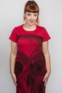 Skull Digital - Back Seam Cap Sleeve Dress