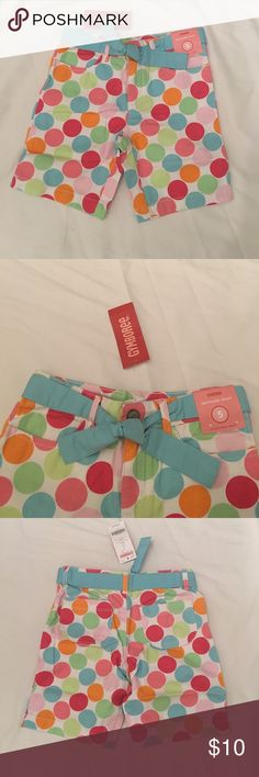 NEW GYMBOREE Belted Bermuda Shorts Size 5 Adorable GYMBOREE pastel polka dots bermuda shorts size 5. Gymboree Bottoms Shorts