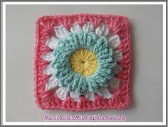 My Crochet , Mis Tejidos: Granny Puff Stitch Flower # 2