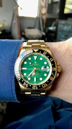 GMT-II 18k Green Dial
