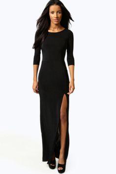 Candice Side Split Slinky Maxi Dress