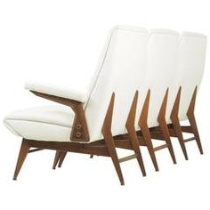 Italian Fashionable and Singular Three Pieces Sofa, Made by Dassi, Milano, 1950