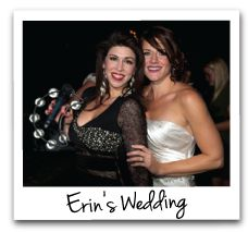 Ericka & Bride at a Wedding Gig!  We love performing at Weddings!