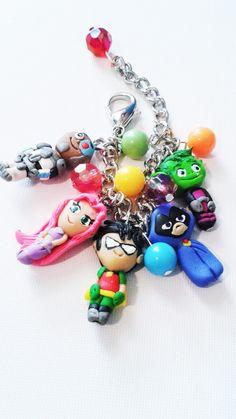 I don't care if I'm 40.  I want one and I want it now! Teen Titans go inspired  charm bracelet Raven by crystalnruby