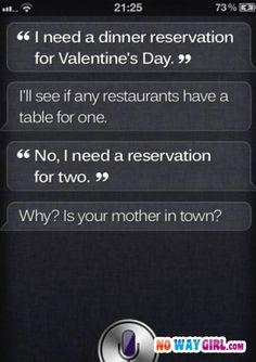 Siri on Valentines Day