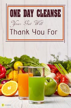 The One Day Cleanse Your Gut Will Thank You For When you plan a detox two things are always discouraging the amount of time it takes for the plan to work and the hunger. One Day Cleanse, Whole Body Cleanse, Colon Cleanse Detox, Full Body Detox, Diet Detox, Healthy Cleanse, Detox Diets, Healthy Smoothies, Healthy Drinks