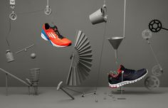 Ongoing still life series in form of a chain reaction machine to present new sneakers from Adidas, Kangaroos, Reebok, Nike and Converse. Still Life Photography, Creative Photography, Shoe Photography, Product Photography, Image Photography, Tactile Imagery, Prop Design, Set Design, Design Art