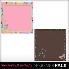 Butterfly Dreams stacked papers set 3