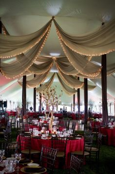 Love the ceiling drape this could make any receptions special and stunning...