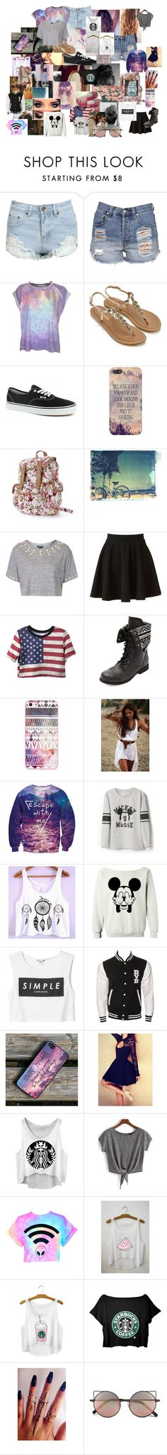 """""""Sem título #290"""" by dianakrueger02 ❤ liked on Polyvore featuring beauty, Neon Hart, Wildfox, Accessorize, Vans, Candie's, She Hit Pause Studios, Topshop, LC Lauren Conrad and Charlotte Russe"""