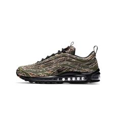 Camo/Black Imported Air Max 97, Nike Air Max, Air Max Sneakers, Sneakers Nike, Cleats, Camouflage, Shoes, Black, Fashion