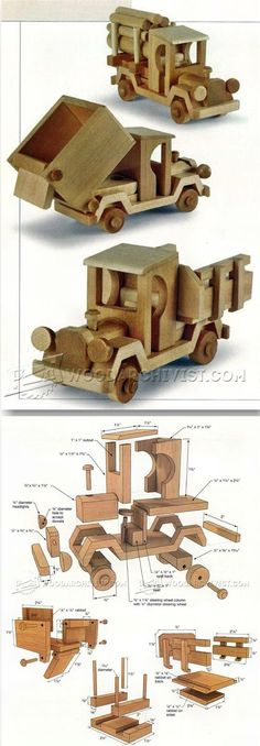 Wooden Toy Truck Plans - Wooden Toy Plans and Projects | WoodArchivist.com #woodentoy