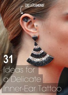 31 Ideas For A Delicate Inner-Ear Tattoo