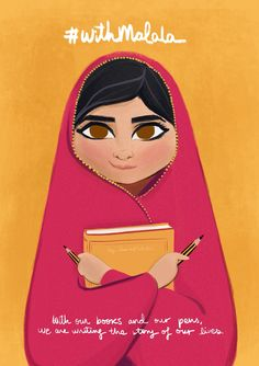 Malala wrote a book about her life and what she had to do to get eduaction.