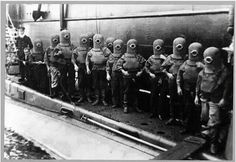 "Did You Know? ""Minionim"" (German minion => ""trustee"") is the name given to Jewish children adopted A''i Nazi scientists for their experiments, they were a big part of their lives suffering, and the reason they did not speak German in their words would have sounded funny Germans [reference image (children with steel mask of diving divers ready to work with installing underground mines])"