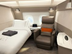Singapore Airlines First Class Suites are like hotel rooms for the skies. First Class Airline, Flying First Class, First Class Flights, Luxury Jets, Luxury Private Jets, Private Plane, Luxury Suites, Airplane Interior, First Class