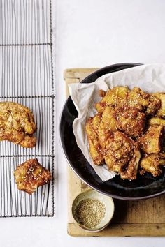 My mom and dad sent me an e- mail with her Japanese Fried Chicken recipe, and I draft it here with just about no modifications. This is exactly how she developed it — and it's perfect. Domo arigato, Mom!