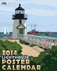 Lighthouse Art Prints, Poster Maine, Cape Cod, Marthas Vineyard, Nantucket,Boston Gallery