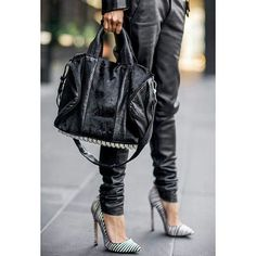 Fall Trend #2- Black leather pants.