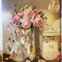 Beautiful Vintage Tea & Flowers Set!!