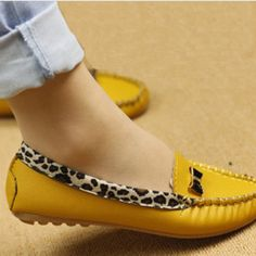Fashion Slip On Bowtie Flat Shoes