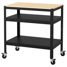 IKEA - FÖRHÖJA, Kitchen cart, birch, Gives you extra storage in your kitchen. Open storage with space for 9 bottles on each shelf. Kitchen Island Trolley, Island Cart, Kitchen Islands, Kitchen Carts, Kitchen Utility Cart, Concrete Bags, Kitchen Ikea, Kitchen Tools, Design Simples