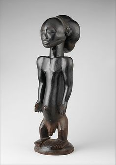 Commemorative figure Date: 19th–early 20th century Geography: Democratic Republic of the Congo, Sayi region Culture: Hemba peoples, Niembo group Medium: Wood Dimensions: H.: 27 5/8 in. (70 cm) Classification: Wood-Sculpture Credit Line: Private collection