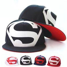 Visit to Buy  New Fashion Unisex Flat Hats Hip Hop Superman Baseball Hat  Cap Gorras Super Summer Casual Outdoor Snapback Hats For Men Women 20e48fec888