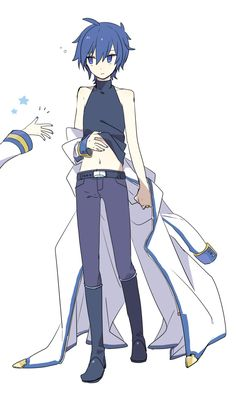 由杞ログ Vocaloid Kaito, Kaito Shion, Little Misfortune, Anime Demon, Neko, Anime Guys, Anime Characters, Manga, Cute