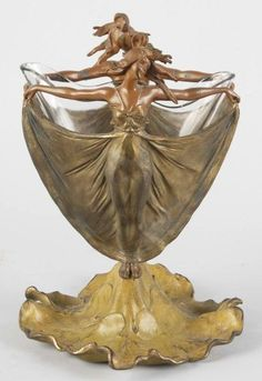 Art Nouveau Vase  I owned this exact item... One of her tiny little feet had…