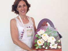 Obra de Marce, alumna de 1er año año del #profesorado de #pinturadecorativa #flower #art