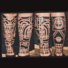 """Work by: @handsmark_ (Finland) #marquesan #polynesian #tattoo #tatau #kakau #moko #blackwork #black #ink #pacific #oceanic #neotribal…"""