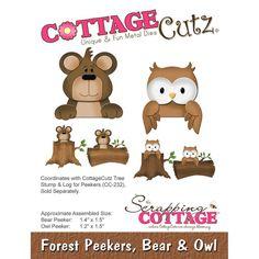 CottageCutz Forest Peekers Die Bear