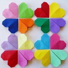 hjerter, origami, hva skal vi lage  diy origami heart Origami Heart, Diy Origami, Origami Hearts