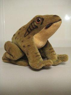 In my ETSY Shop: Steiff Vintage Velvet Froggy Frog