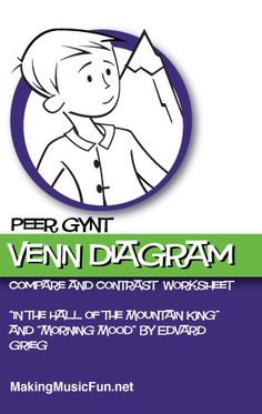 """Peer Gynt Venn Diagram   Compare and Contrast """"In the Hall of the Mountain King"""" and """"Morning Mood"""" by Edvard Grieg - MakingMusicFun.net"""
