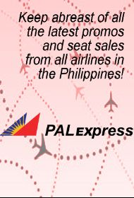 Be the first to know about PAL Express Promo Fares and Seat Sales. Be one of the first to be notified of the latest PAL Express Promos!