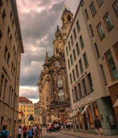 Cloudy day in Dresden Cloudy Day, Around The Corner, Beautiful Architecture, Eccentric, Pick One, Dresden, Big Ben, Germany, Street