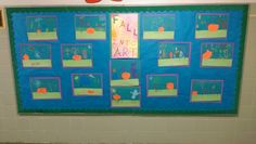 """October 2015-16: """"Fall Into Art"""" displaying K pumpkin projects."""