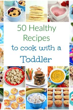 50 easy healthy recipes to cook with young kids and top tips for how to cook with toddlers 50 easy and healthy recipes for cooking with toddlers plus top tips for making cooking with little ones easy and stress free! Healthy Meals For Kids, Easy Healthy Recipes, Healthy Cooking, Baby Food Recipes, Kids Meals, Healthy Food, Meals For Toddlers, Cooking Zucchini, Dinner Recipes