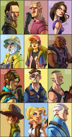 Walking Dead characters by ubegovic on DeviantArt