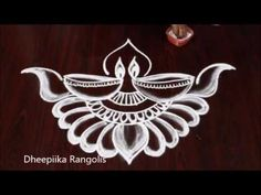 Rangoli is an artistic creation with rice flour that is made outside the front entrance of the house It is usually done by the women flok of the house early . Simple Rangoli Designs Images, Rangoli Designs Latest, Rangoli Designs Flower, Rangoli Border Designs, Rangoli Ideas, Rangoli Designs Diwali, Rangoli Designs With Dots, Beautiful Rangoli Designs, Simple Designs