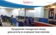 SynapseIndia management offers enthralling opportunities of success and growth to employees. The environment here is relaxed & cool and there is no work pressure at all, whatsoever.