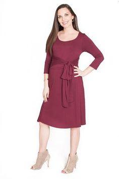 Belted Maternity & Nursing Dress