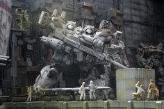 Gunpla / Armored Core Kit Bash Diorama - Diorama Build   Modeled by 变异猫球        CLICK HERE TO VIEW FULL POST...