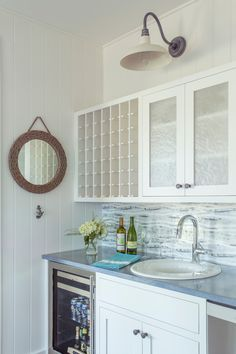 wet bar | Martha's Vineyard Interior Design