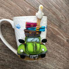 Mind Blowing Useful Ideas: Interior Painting Tips Cases interior painting design ideas. Clay Jar, Clay Mugs, Ceramic Mugs, Polymer Clay Dolls, Polymer Clay Crafts, Polymer Clay Jewelry, Custom Business Card Holder, Mug Art, Unique Coffee Mugs