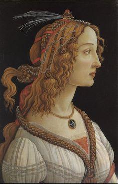 Portrait of Simonetta Vespucci  by Sandro Botticelli, ca. 1474